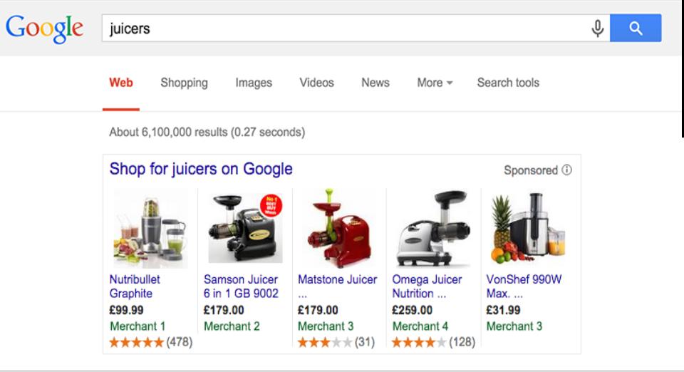 Beispielgrafik Produktbewertung für Google Shopping