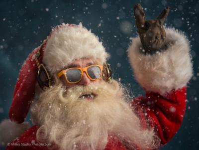 Santa Clause im Weihnachtsgeschäft