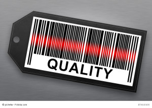 quality barcode with stainless steel background