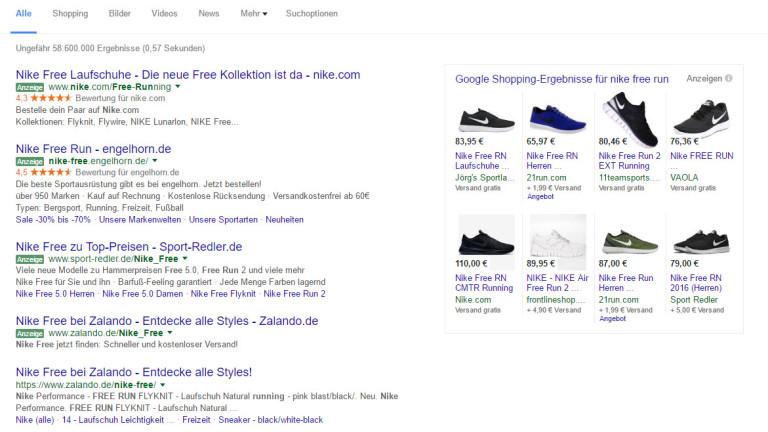 Google Shopping Beispiel Optimierung der Produkttitel